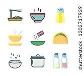 spicy icon set. vector set... | Shutterstock .eps vector #1202717929