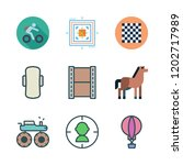 competition icon set. vector... | Shutterstock .eps vector #1202717989