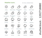 weather icons   outline styled... | Shutterstock .eps vector #1202718880