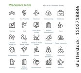 workplace icons   outline... | Shutterstock .eps vector #1202718886