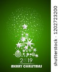 christmas and new year 2019... | Shutterstock .eps vector #1202723200