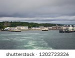 the view of the port in...   Shutterstock . vector #1202723326