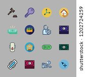 real icon set. vector set about ... | Shutterstock .eps vector #1202724259