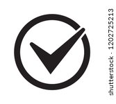 check icon. checkmark vector.... | Shutterstock .eps vector #1202725213