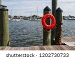 a bright  red life buoy  or...   Shutterstock . vector #1202730733