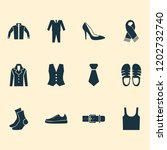 garment icons set with...   Shutterstock . vector #1202732740