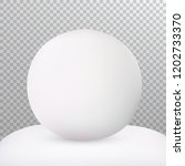 white snowball isolated on snow ...   Shutterstock .eps vector #1202733370