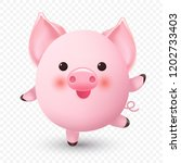 Cute Little Pig. Chinese New...