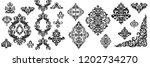 set of oriental vector damask... | Shutterstock .eps vector #1202734270