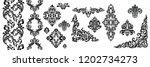 set of oriental vector damask... | Shutterstock .eps vector #1202734273
