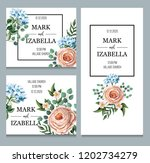 delicate wedding invitation... | Shutterstock .eps vector #1202734279