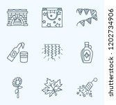 icons line style set with light ... | Shutterstock .eps vector #1202734906