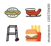dog icon set. vector set about...   Shutterstock .eps vector #1202735650
