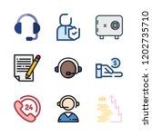 agent icon set. vector set... | Shutterstock .eps vector #1202735710