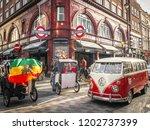 london  october  2018  london...   Shutterstock . vector #1202737399