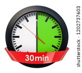 clock face with 30 minutes... | Shutterstock . vector #1202737603