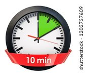 clock face with 10 minutes... | Shutterstock . vector #1202737609