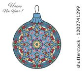 colorful christmas ball with... | Shutterstock .eps vector #1202741299