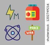 energy icon set. vector set...   Shutterstock .eps vector #1202749216