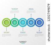 five round translucent elements ... | Shutterstock .eps vector #1202749879
