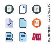 bureaucracy icon set. vector... | Shutterstock .eps vector #1202751160
