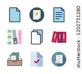 bureaucracy icon set. vector... | Shutterstock .eps vector #1202751280