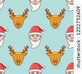 seamless pattern with santa... | Shutterstock .eps vector #1202752609