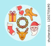 set of christmas elements.... | Shutterstock .eps vector #1202755690