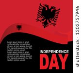 albania independence day design ... | Shutterstock .eps vector #1202757946