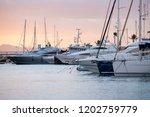 port de alcudia  majorca  spain ...   Shutterstock . vector #1202759779