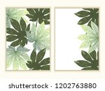 invitation card with leaves ... | Shutterstock .eps vector #1202763880