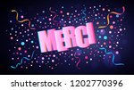 merci or thank you in french... | Shutterstock .eps vector #1202770396