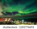 green bright northern lights...   Shutterstock . vector #1202776693