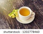 linden flowers herbal  cup of... | Shutterstock . vector #1202778460