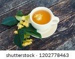 linden flowers herbal  cup of... | Shutterstock . vector #1202778463