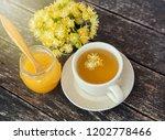 linden flowers herbal  cup of... | Shutterstock . vector #1202778466