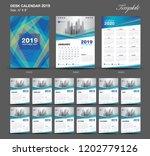 desk calendar 2020 year size  6 ... | Shutterstock .eps vector #1202779126