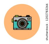 photocamera vector line icon... | Shutterstock .eps vector #1202783266