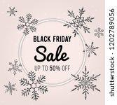 black friday sale raster banner ...   Shutterstock . vector #1202789056