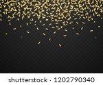 golden glitter ribbons for... | Shutterstock .eps vector #1202790340