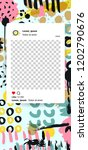 trendy editable template for... | Shutterstock .eps vector #1202790676