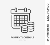 payment schedule with money... | Shutterstock .eps vector #1202792470