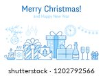 merry christmas banner with... | Shutterstock .eps vector #1202792566