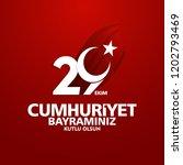 29 ekim cumhuriyet bayrami day... | Shutterstock .eps vector #1202793469