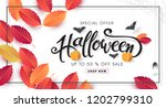 happy halloween banners party... | Shutterstock .eps vector #1202799310