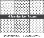 set of icon seamless patterns... | Shutterstock .eps vector #1202808943