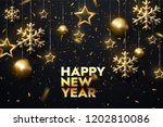 happy new year. shimmering... | Shutterstock .eps vector #1202810086