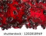 track of  bilberry jam isolated ... | Shutterstock . vector #1202818969