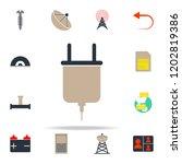 colored plug icon. web icons...