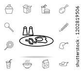 breakfast scrambled eggs icon.... | Shutterstock .eps vector #1202819506